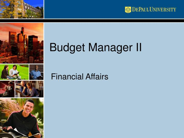budget manager ii n.