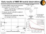 early results of inms im neutral observations