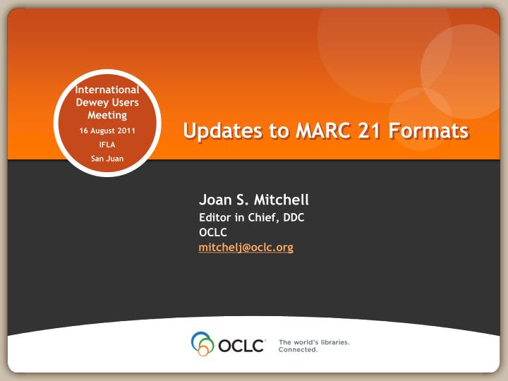 updates to marc 21 formats n.