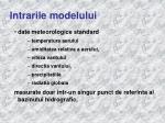 intrarile modelului