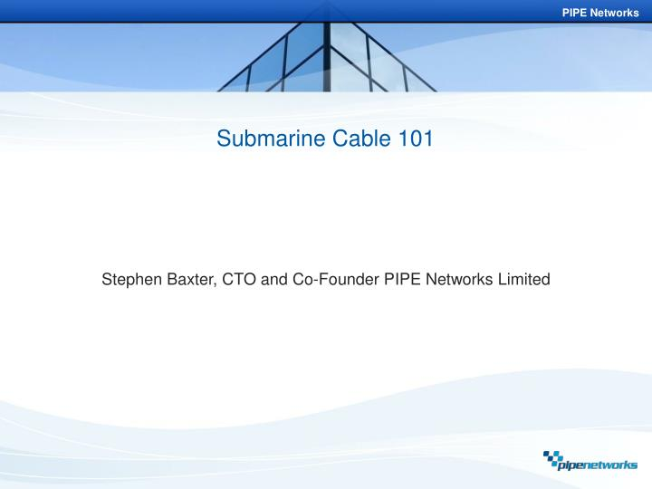 submarine cable 101 n.