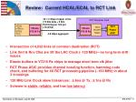 review current hcal ecal to rct link