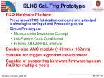 slhc cal trig prototype