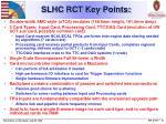 slhc rct key points