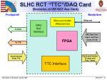 slhc rct ttc daq card evolution of uw gct aux card
