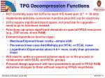 tpg decompression functions