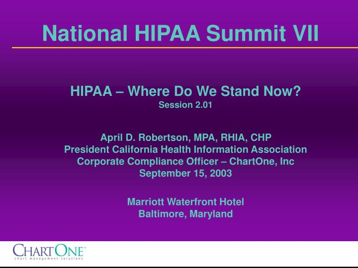 national hipaa summit vii n.