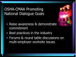 osha cmaa promoting national dialogue goals