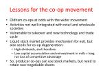 lessons for the co op movement