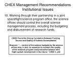 chex management recommendations institutional issues1