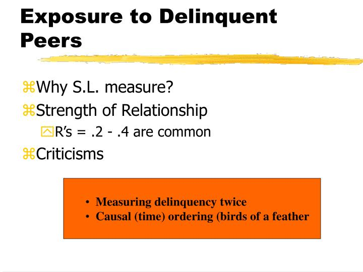 exposure to delinquent peers n.