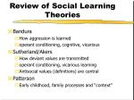 review of social learning theories