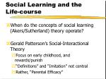 social learning and the life course