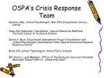 ospa s crisis response team