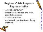 regional crisis response representative