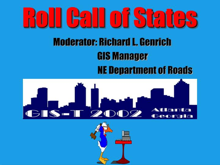 roll call of states n.