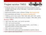 pregled raziskav timss