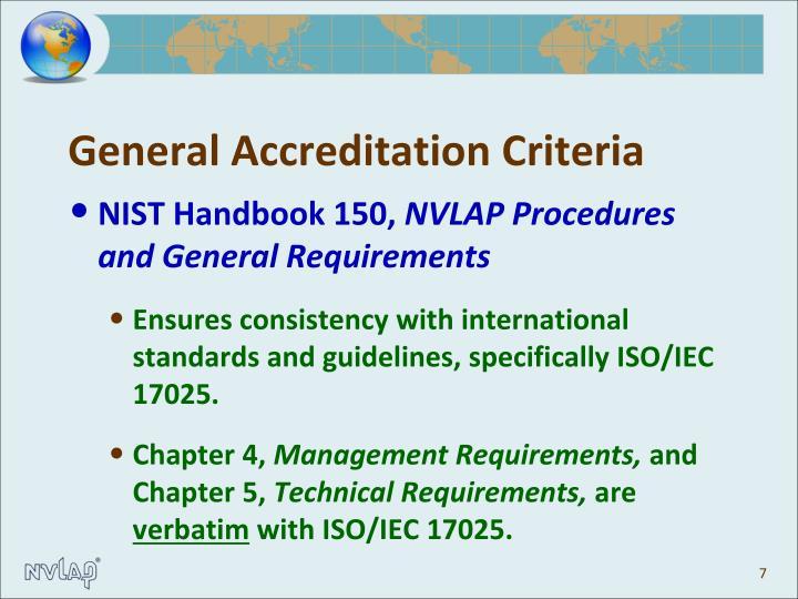 General Accreditation Criteria