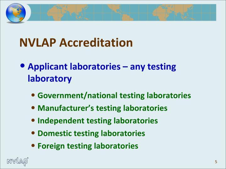 NVLAP Accreditation