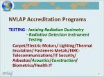 nvlap accreditation programs
