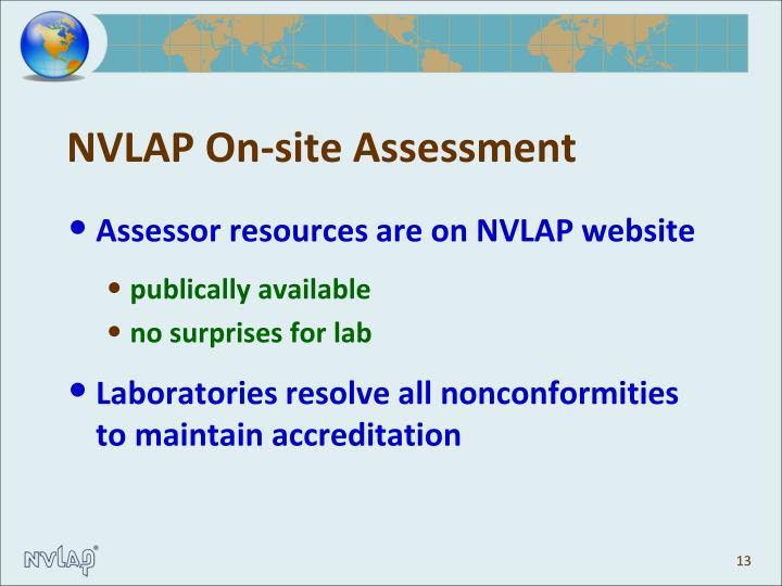 NVLAP On-site Assessment