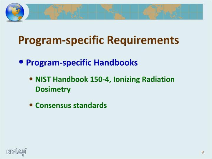 Program-specific Requirements