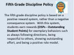fifth grade discipline policy