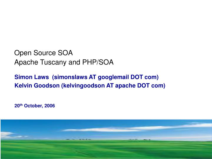 open source soa apache tuscany and php soa n.