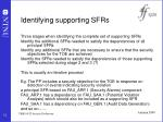 identifying supporting sfrs