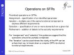 operations on sfrs