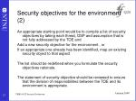 security objectives for the environment 2