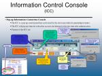 information control console icc