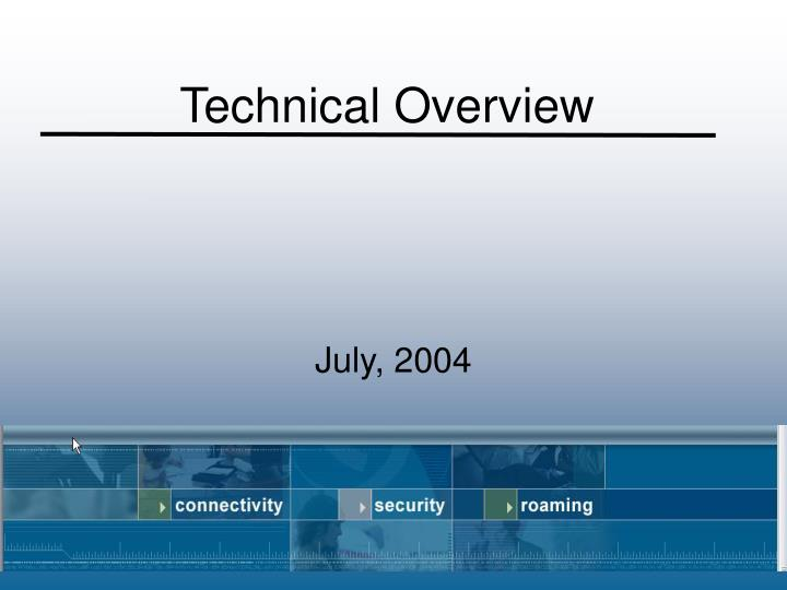 technical overview n.