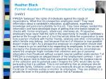 heather black former assistant privacy commissioner of canada suite