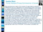 heather black former assistant privacy commissioner of canada