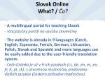 slovak online what o