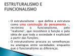 estruturalismo e funcionalismo1