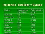 incidencia boreli zy v eur pe