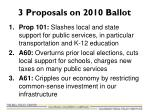 3 proposals on 2010 ballot