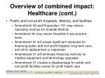 overview of combined impact healthcare cont2