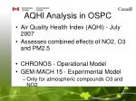 aqhi analysis in ospc