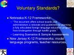voluntary standards