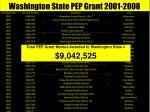 washington state pep grant 2008