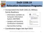 dodi 1338 19 relocation assistance programs