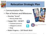 relocation strategic plan