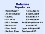 columns superior xx