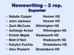 newswriting 2 rep superior