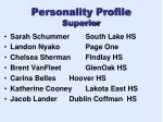personality profile superior
