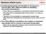 nonlinear effects cont