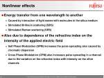 nonlinear effects